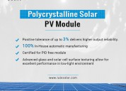 Get polycrystalline solar panels manufacturers