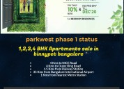1, 2, 3 and 4 bhk flats for sale in binnypet banga