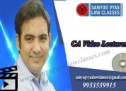 Best ca final law classes by sanyog vyas