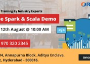 Free spark and scala demo on 12th aug sunday@10am