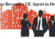 Want to become lic agent