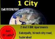 2 and 3 bhk flats at incor one city kukatpally hyd