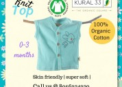 Organic baby knit top, knit top, baby top