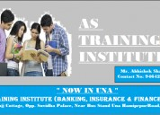 As training institute (banking, insurance & financ