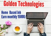 Home based part time online copy past job