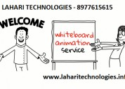 I will make a professional whiteboard animation