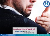 Get rid of Dandruff with Homeopathy