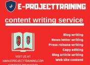Content editor and writer requirement