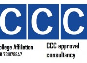 Professional ccc approval consultancy  college aff