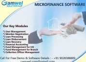 Microfinance software at loan management