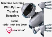 Python machine learning course bangalore