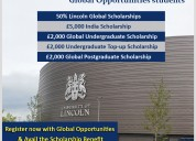The university of lincoln- excellent scholarship