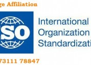 Procedure for iso certification - college affiliat