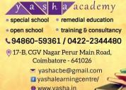 Yasha academy, open school in coimbatore, special