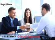 College affiliation |o level approval consultancy