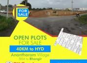 Buy open plots 5km to bhongir