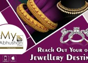 Buy gold designer bangle for woman at my abhushan