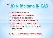 Cad cam technologies - diploma in cad 100% job