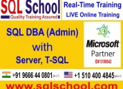 Sql dba real time online training @ sql school