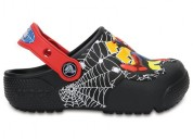 Crocs funlab black spiderman clogs shoes with lig