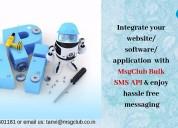 Integrate bulk sms api for website/software/application
