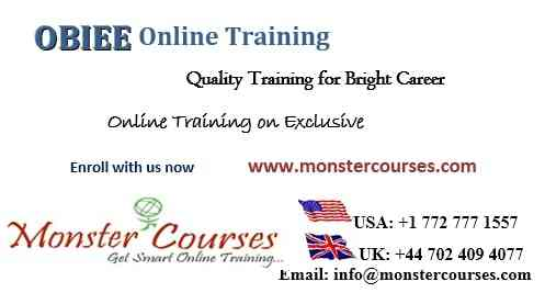 OBIEE 12c Online Training, OBIEE 11g Online Training.