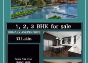 Sophisticated style 2/3 bhk flats for sale