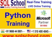Real time live online training on python-