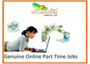 Online home based part time jobs,Genuine company