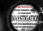 Private detective agency in hyderabad