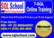 Real time live online training on sql server @ sql