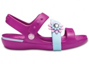 Crocs keeley petal charm ps vibrant violet sandals