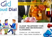 Cloud telephony for food and beverages