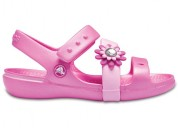 Crocs keeley petal charm ps pink party girls sanda