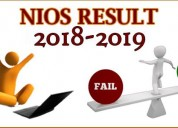 Nios admission  2019 for 10th 12th stream 1 open