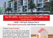 2bhk  deluxe flat 1100 sq.ft. for 17 lakhs only