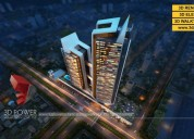 3d high rise apartment rendering & walkthrough ser