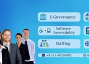 E-governance, staffing solutions