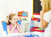 Speech therapy for autistic children
