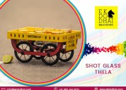 Buy shot glasses thela (bar trolley) by ekdodhai