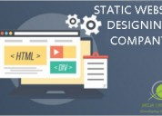 Top static website services offering mcm infotech.