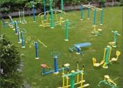 Outdoor garden green gym equipment