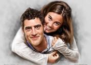 Couple portraits - digital portrait painting servi