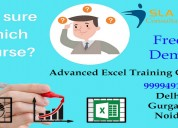 Attend the best advanced excel classes in noida