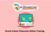 Oracle fusion financials online training   oracle