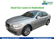 used cars loans in hyderabad