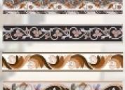Vitrified border tiles, double charge border tiles