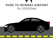 Pocket friendly pune to mumbai airport shared  cab