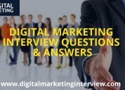 The best digital marketing interview questions