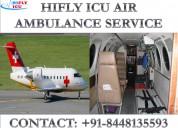 Get hifly icu air ambulance in bhagalpur